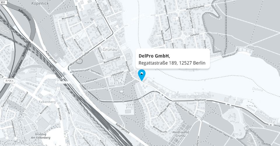 Karte DelPro.de